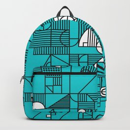 geo numbers blue Backpack