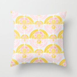 Light colored pattern Throw Pillow