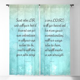 Proverbs 3:5-6, Encouraging Bible Quote Blackout Curtain