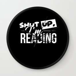 Reading rat | gift for reading lovers Wall Clock