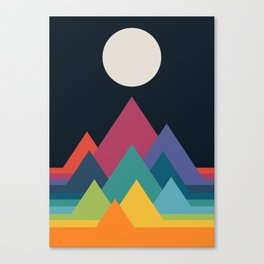 Whimsical Mountains Canvas Print