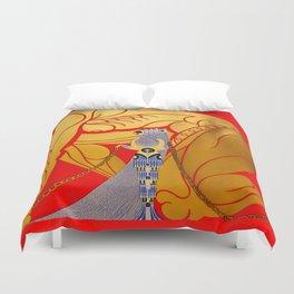 """Art Deco Design """"Sampson & Delilah"""" by Erté Duvet Cover"""