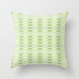 Ferns in Green and Yellow Throw Pillow
