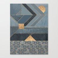 nordic Canvas Prints featuring Nordic Blue by Elisabeth Fredriksson