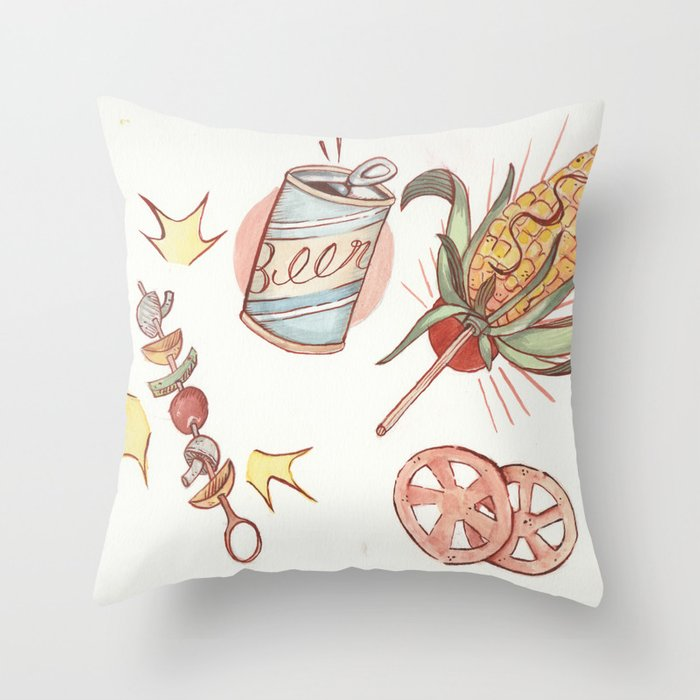 Mexican BBQ Throw Pillow