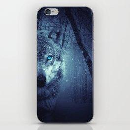 Wolf in forest | Blues eyes  Wolf | Wolf design | Wolf love iPhone Skin
