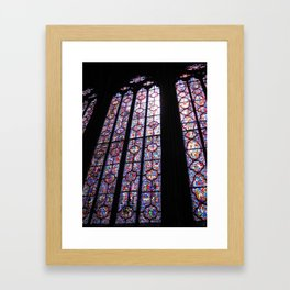 Vitraux de Sainte Chapelle Framed Art Print