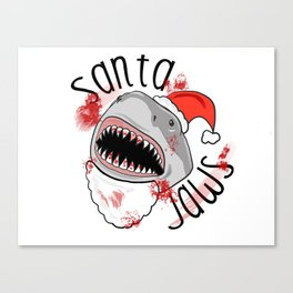 Santa Jaws Clause Canvas Print