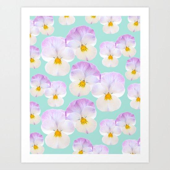 Pansies Dream #1 #floral #pattern #decor #art #society6 by anitabellajantz