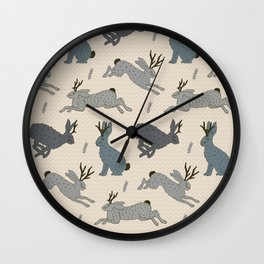Jackalope Snow Parade Wall Clock