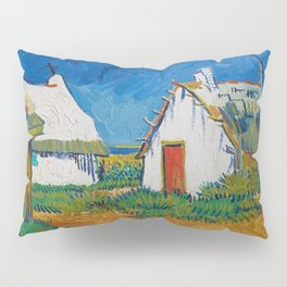 Three White Cottages In Saintes Maries By Vincent van Gogh Pillow Sham