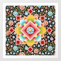 Geometric Chintz Mandala Art Print