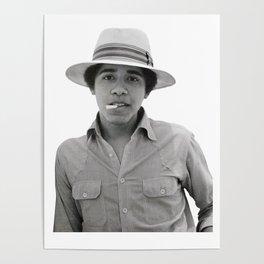 Barack Obama Pose Smoked Poster
