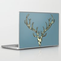 antlers Laptop & iPad Skins featuring Antlers by Rachel Russell