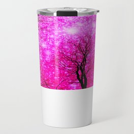 Black Trees Hot Pink Space Travel Mug