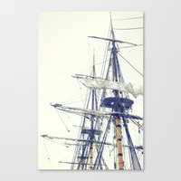 pirate ship Canvas Prints featuring Pirate Ship  by Bree Madden