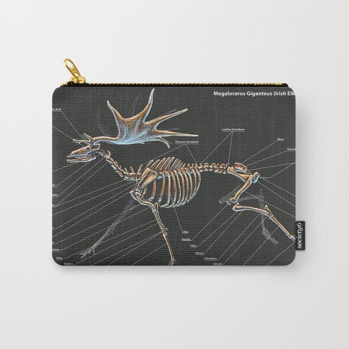 Megaloceros Giganteus Skeletal Study Carry-All Pouch