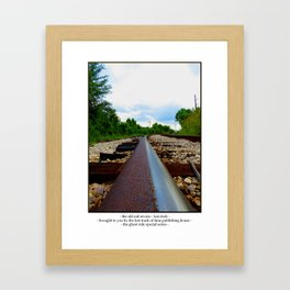 The Old Rail Review Framed Art Print