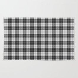 Clan Erskine Tartan // Black & White Rug