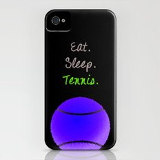 Eat. Sleep. Tennis.  (White with Pink) iPhone (4, 4s) Slim Case