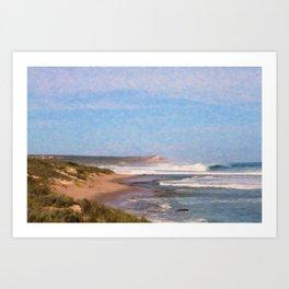 Stormy Cove Art Print