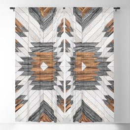 Urban Tribal Pattern No.8 - Aztec - Wood Blackout Curtain