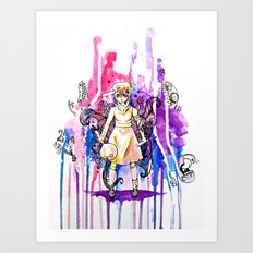 I'm stronger than my fears.  Art Print