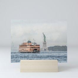 Staten Island Ferry & Statue of Liberty Mini Art Print