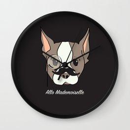 Ollie, Dapperdog says Allo Wall Clock
