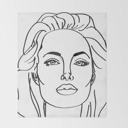 Angelina Jolie Throw Blanket