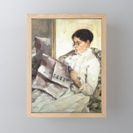 "Mary Cassatt - Reading ""Le Figaro"" Framed Mini Art Print"