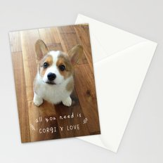 All you need is corgi and love Stationery Cards