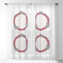 Adversity, Perseverance, Success Motivational Quote Sheer Curtain