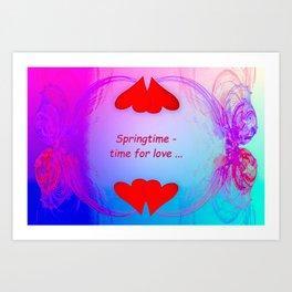 Springtime - time for love (night) ... Art Print