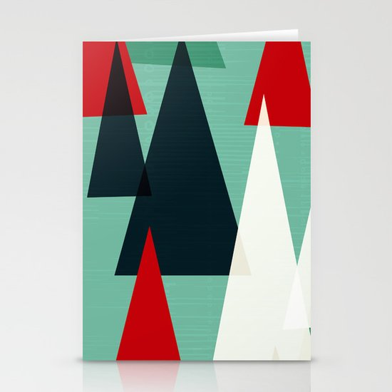Abstract Forest by Friztin Stationery Cards