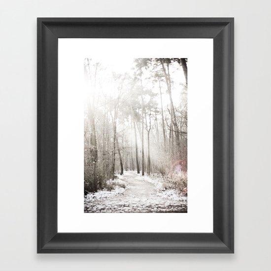 On a cold winter morning Framed Art Print