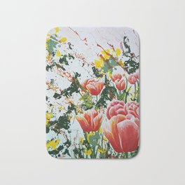 Edge of a tulip garden Bath Mat