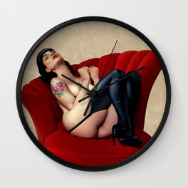 THE SOFA PIN-UP Wall Clock