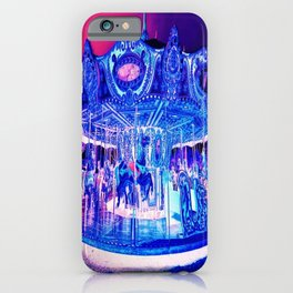 Carousel Merry-Go-Round Pink Purple iPhone Case
