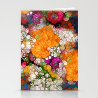 andreas preis Stationery Cards featuring Many Colors by Joke Vermeer