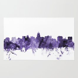 Madison Wisconsin Skyline Rug
