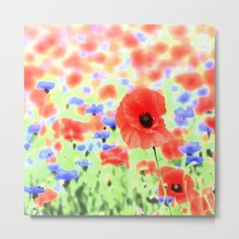 poppies art 004 Metal Print
