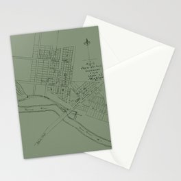 Map Of Ann Arbor 1832 Stationery Cards