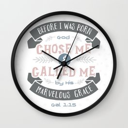 """Called"" Hand-Lettered Bible Verse Wall Clock"