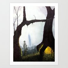 everything merges with the night Art Print