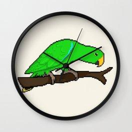 Pixel / 8-bit Parrot: Eclectus Wall Clock