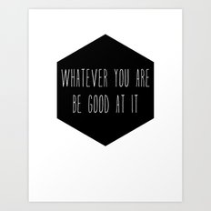 Be Good Nursery Print Art Print