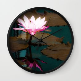 Lovely Lily Pads Wall Clock