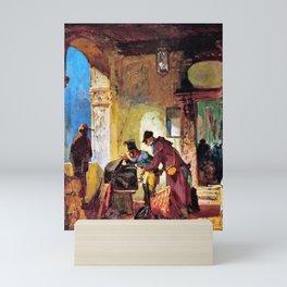 12,000pixel-500dpi - Papal Customs Audit - Carl Spitzweg Mini Art Print