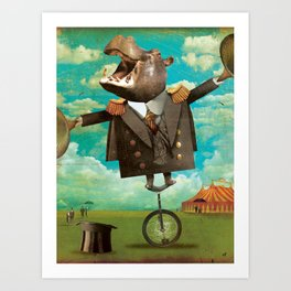 Circus-Circus :: Balancing Act Art Print